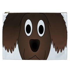 Dog Pup Animal Canine Brown Pet Cosmetic Bag (xxl)