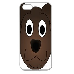 Dog Pup Animal Canine Brown Pet Apple Seamless Iphone 5 Case (clear)