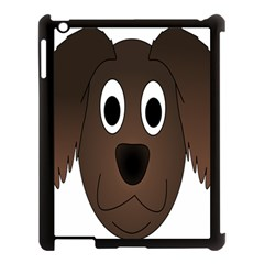 Dog Pup Animal Canine Brown Pet Apple Ipad 3/4 Case (black)
