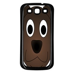 Dog Pup Animal Canine Brown Pet Samsung Galaxy S3 Back Case (black)