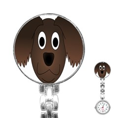 Dog Pup Animal Canine Brown Pet Stainless Steel Nurses Watch
