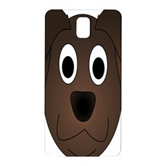Dog Pup Animal Canine Brown Pet Samsung Galaxy Note 3 N9005 Hardshell Back Case