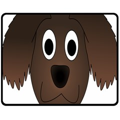 Dog Pup Animal Canine Brown Pet Double Sided Fleece Blanket (medium)