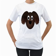 Dog Pup Animal Canine Brown Pet Women s T Shirt (white)
