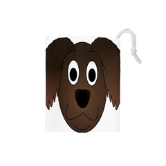 Dog Pup Animal Canine Brown Pet Drawstring Pouches (small)