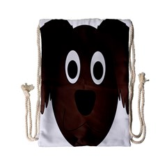 Dog Pup Animal Canine Brown Pet Drawstring Bag (small)