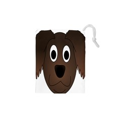 Dog Pup Animal Canine Brown Pet Drawstring Pouches (xs)