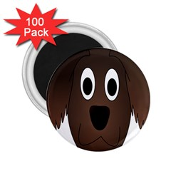 Dog Pup Animal Canine Brown Pet 2 25  Magnets (100 Pack)