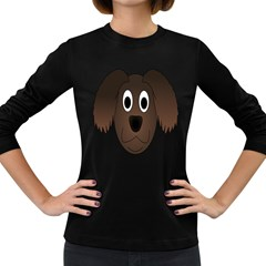 Dog Pup Animal Canine Brown Pet Women s Long Sleeve Dark T Shirts