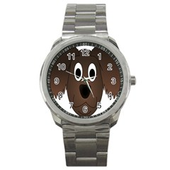 Dog Pup Animal Canine Brown Pet Sport Metal Watch