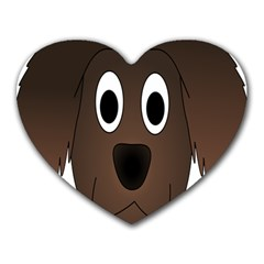 Dog Pup Animal Canine Brown Pet Heart Mousepads