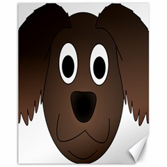Dog Pup Animal Canine Brown Pet Canvas 11  X 14
