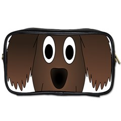 Dog Pup Animal Canine Brown Pet Toiletries Bags