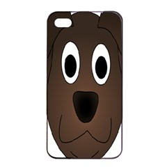 Dog Pup Animal Canine Brown Pet Apple Iphone 4/4s Seamless Case (black)