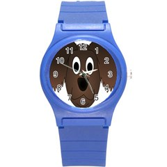Dog Pup Animal Canine Brown Pet Round Plastic Sport Watch (s)