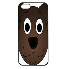 Dog Pup Animal Canine Brown Pet Apple Iphone 5 Seamless Case (black)