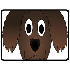 Dog Pup Animal Canine Brown Pet Double Sided Fleece Blanket (large)
