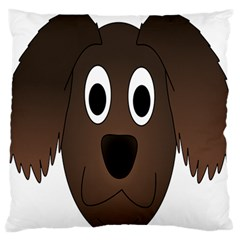 Dog Pup Animal Canine Brown Pet Large Flano Cushion Case (one Side)