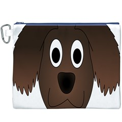 Dog Pup Animal Canine Brown Pet Canvas Cosmetic Bag (xxxl)