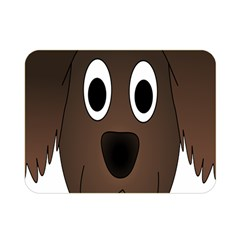 Dog Pup Animal Canine Brown Pet Double Sided Flano Blanket (mini)