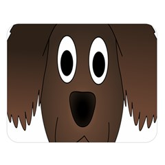 Dog Pup Animal Canine Brown Pet Double Sided Flano Blanket (large)