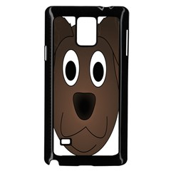 Dog Pup Animal Canine Brown Pet Samsung Galaxy Note 4 Case (black)