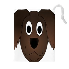 Dog Pup Animal Canine Brown Pet Drawstring Pouches (extra Large)