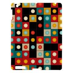 Colors On Black Apple Ipad 3/4 Hardshell Case