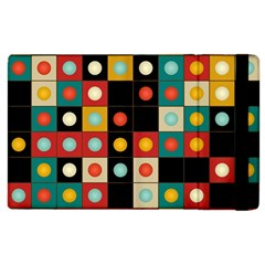 Colors On Black Apple Ipad 2 Flip Case