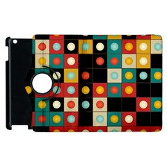 Colors On Black Apple Ipad 2 Flip 360 Case
