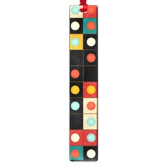 Colors On Black Large Book Marks