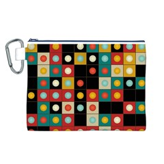 Colors On Black Canvas Cosmetic Bag (l)