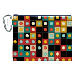 Colors On Black Canvas Cosmetic Bag (xxl)