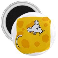 Rat Mouse Cheese Animal Mammal 3  Magnets