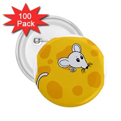 Rat Mouse Cheese Animal Mammal 2 25  Buttons (100 Pack)