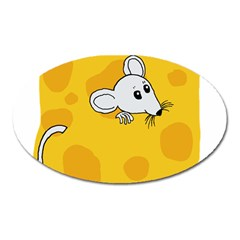Rat Mouse Cheese Animal Mammal Oval Magnet