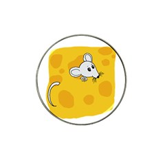 Rat Mouse Cheese Animal Mammal Hat Clip Ball Marker (4 Pack)