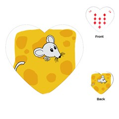 Rat Mouse Cheese Animal Mammal Playing Cards (heart)