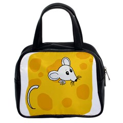 Rat Mouse Cheese Animal Mammal Classic Handbags (2 Sides)
