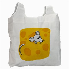 Rat Mouse Cheese Animal Mammal Recycle Bag (two Side)