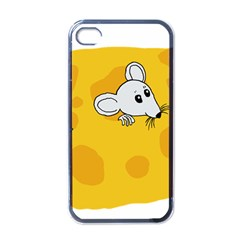 Rat Mouse Cheese Animal Mammal Apple Iphone 4 Case (black)