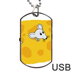 Rat Mouse Cheese Animal Mammal Dog Tag Usb Flash (two Sides)