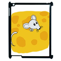 Rat Mouse Cheese Animal Mammal Apple Ipad 2 Case (black)