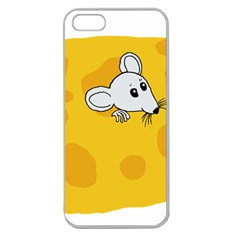 Rat Mouse Cheese Animal Mammal Apple Seamless Iphone 5 Case (clear)