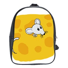 Rat Mouse Cheese Animal Mammal School Bag (xl)
