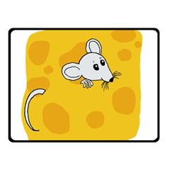 Rat Mouse Cheese Animal Mammal Double Sided Fleece Blanket (small)