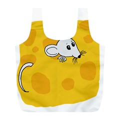 Rat Mouse Cheese Animal Mammal Full Print Recycle Bags (l)