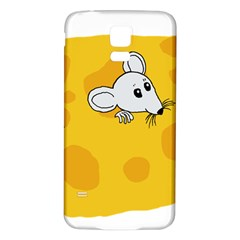 Rat Mouse Cheese Animal Mammal Samsung Galaxy S5 Back Case (white)