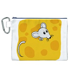 Rat Mouse Cheese Animal Mammal Canvas Cosmetic Bag (xl)