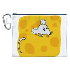 Rat Mouse Cheese Animal Mammal Canvas Cosmetic Bag (xxl)